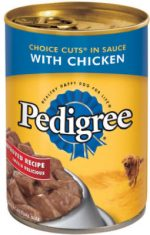 Pedigree 01070 22 oz. Chunky Chicken Canned Dog Food Pack Of 12