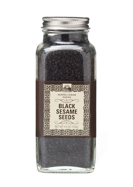Pepper Creek Farms 70M Black Sesame Seeds - Pack of 6