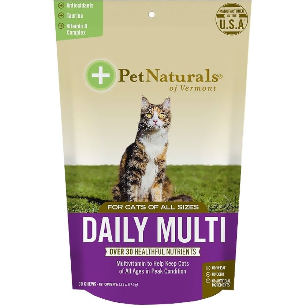 Pet Naturals Of Vermont 70029F30 Daily Multi Chews for Cats - 30 Per Pack