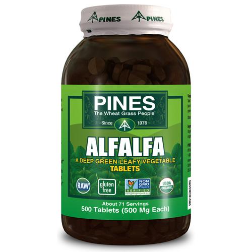 Pines International ECW1580315 Alfalfa Organic Tablets - 1 x 500 Tablets