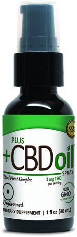 Plus CBD Oil 375623 1 oz CBD Oil Unflavored Spray