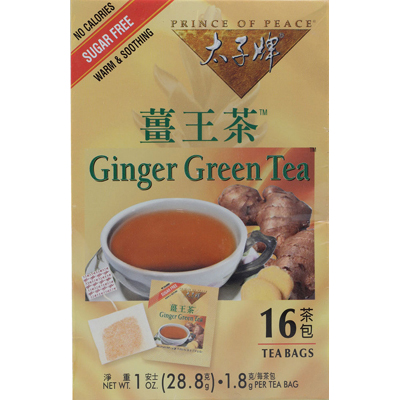 Prince Of Peace 0710194 Ginger Green Tea - 16 Tea Bags