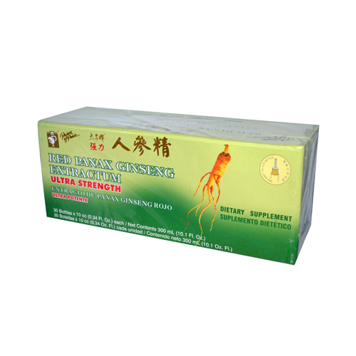 Prince of Peace 958652 Prince of Peace Red Panax Ginseng Extractum Ultra Strength - 30 Vials