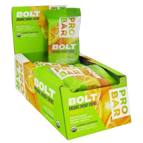 Probar 1232198 2.1 oz Bolt Energy Chews Organic Orange - Case of 12