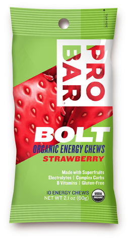 Probar 853152100544 Sleeve Bolt Organic Energy Chews - Strawberry