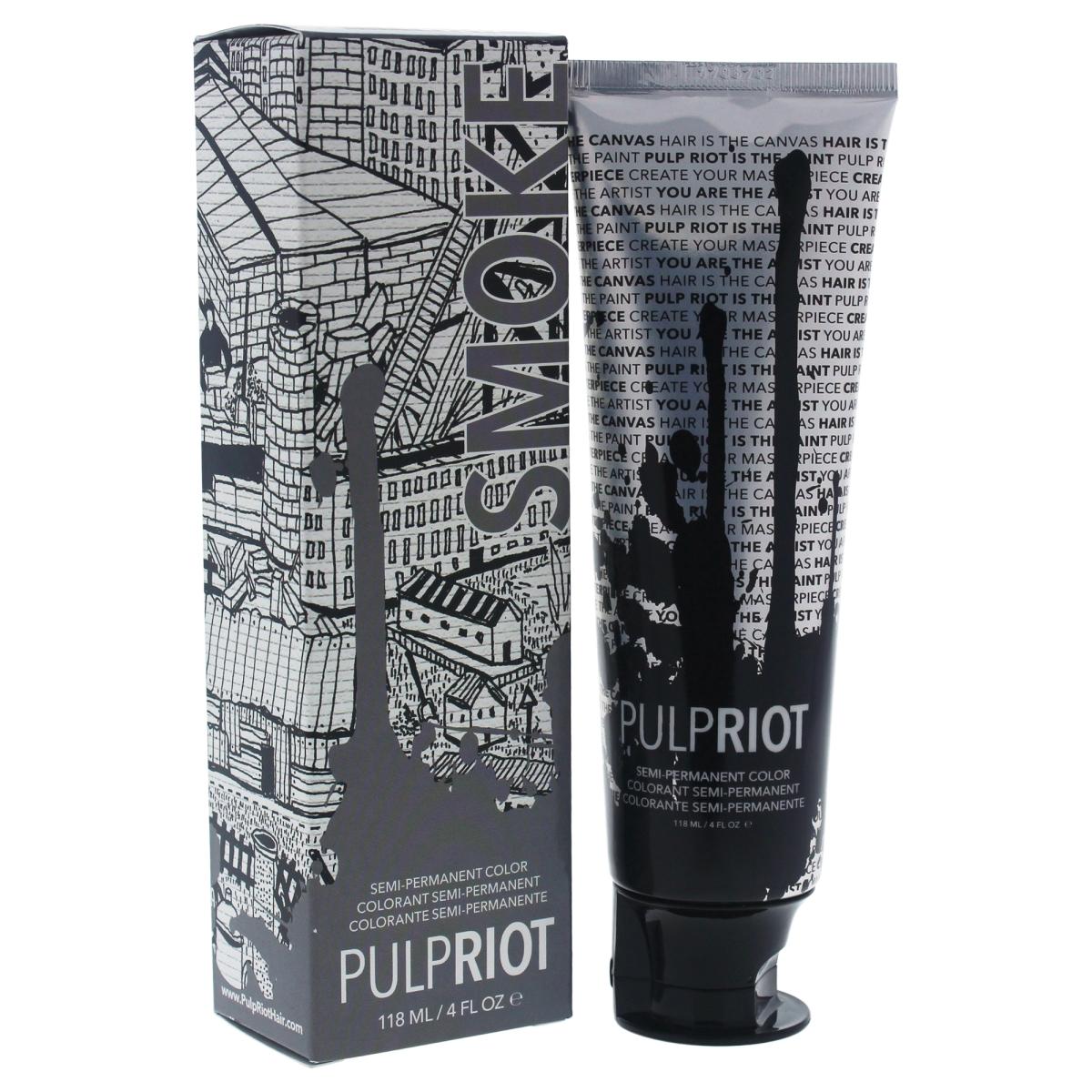 Pulp Riot U-HC-11673 4 oz Semi Permanent Smoke Hair Color for Unisex Grey