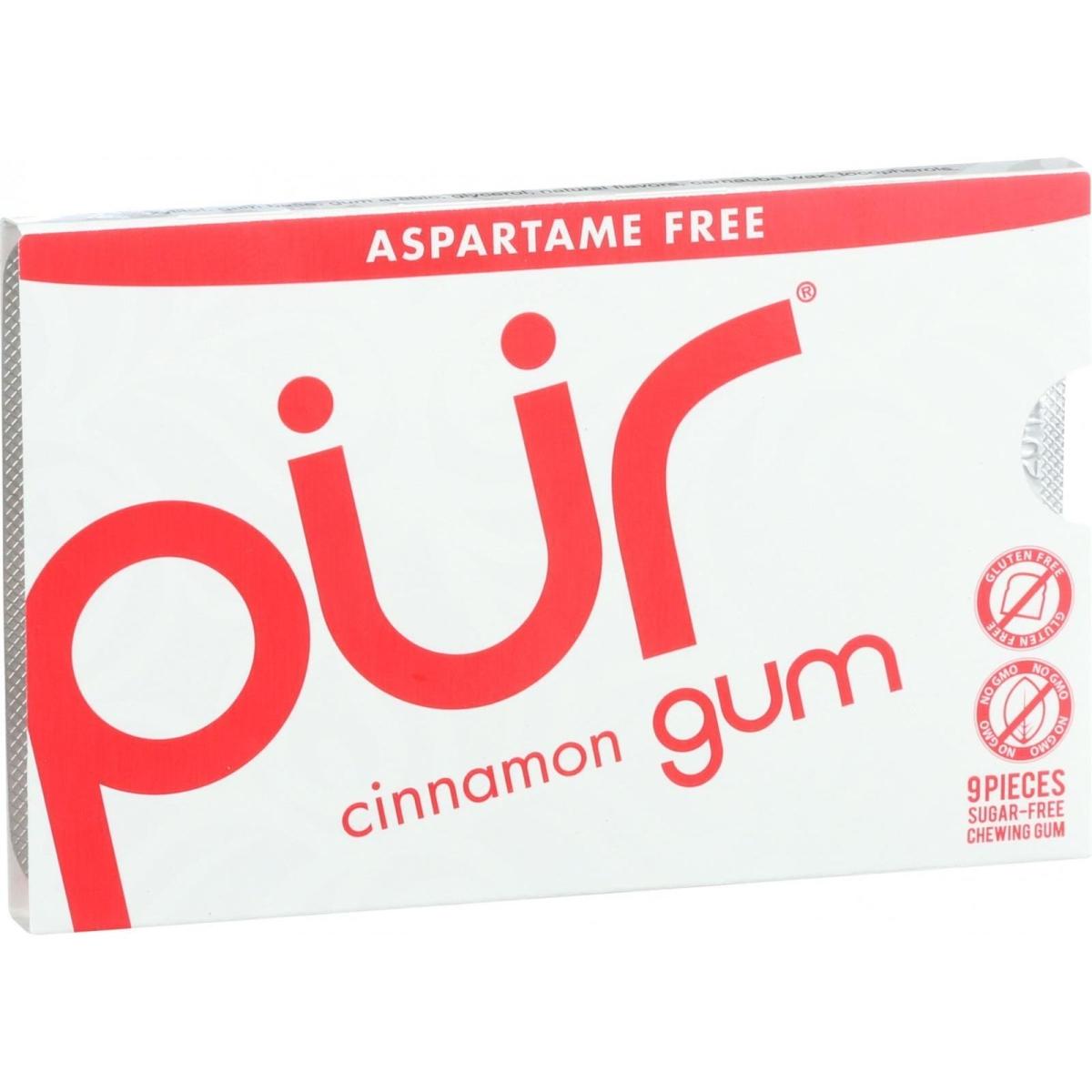 Pur Gum 1608454 12.6 g Cinnamon Chewing Gum - Aspartame Free - 9 Pieces Case of 12