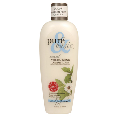 Pure and Basic Natural Volumizing Conditioner Cool Peppermint - 12 fl oz