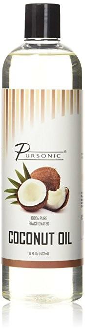 Pursonic CNO16 14 oz Pure Fractionated Coconut Oil - Non Greasy