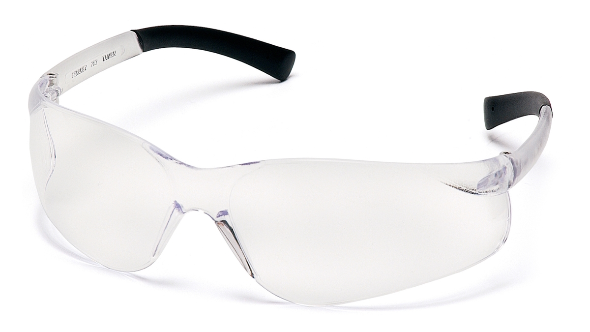 Pyramex Safety S2510S Ztek Clear Lens with Clear Temples