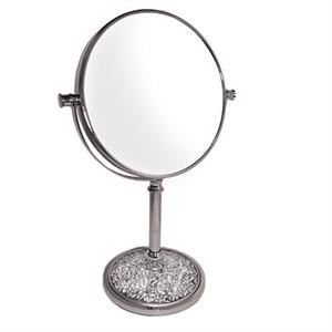 RUCCI M987 7x Fragmented Base Chrome Stand Mirror