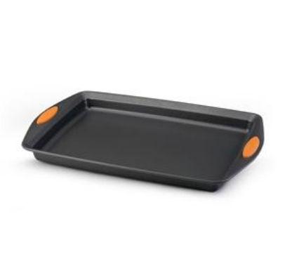 Rachael Ray 54071 Bakeware Oven Lovin Crispy Sheet 11-Inch by 17-Inch Cookie Pan Grey