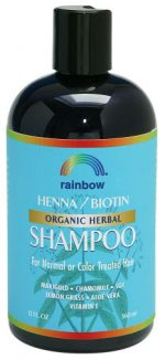 Rainbow Research 0298703 Organic Herbal Henna Boitin Shampoo - 12 fl oz