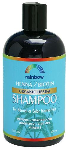 Rainbow Research 0298703 Organic Herbal Henna Boitin Shampoo - 12 fl oz