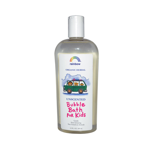 Rainbow Research 562843 Rainbow Research Organic Herbal Bubble Bath For Kids Unscented - 12 fl oz