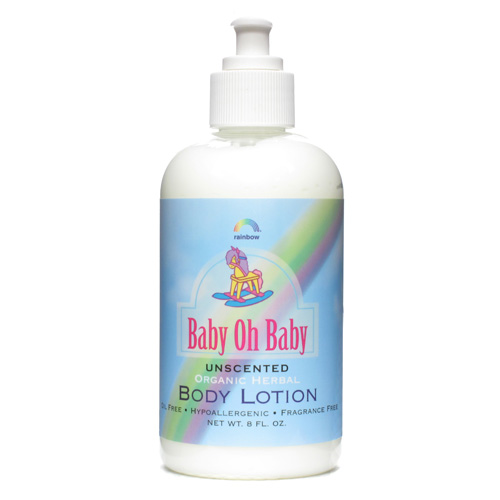 Rainbow Research 8 Ounce Organic Herbal Baby Body Lotion Unscented