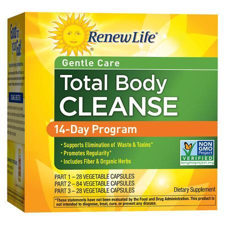 ReNew Life Organic Total Body Cleanse, 3-Part Program - 1 set