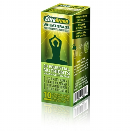 Reaction Retail Rr033 Citragreen Effervescent Wheatgrass Tablets Pack of 10