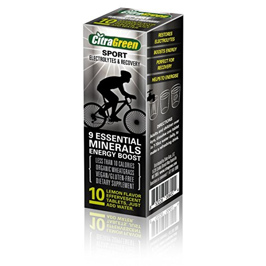 Reaction Retail Rr034 Citragreen Sport Effervescent Wheatgrass Tablets Pack of 10