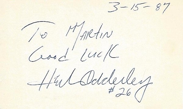Real Deal Memorabilia HAdderley3x5-1 Herb Adderley Signed - Autographed Green Bay Packers - Dallas Cowboys 3 x 5 in. Index Card - Hall of Fame - 3x Super Bowl Champion I II VI