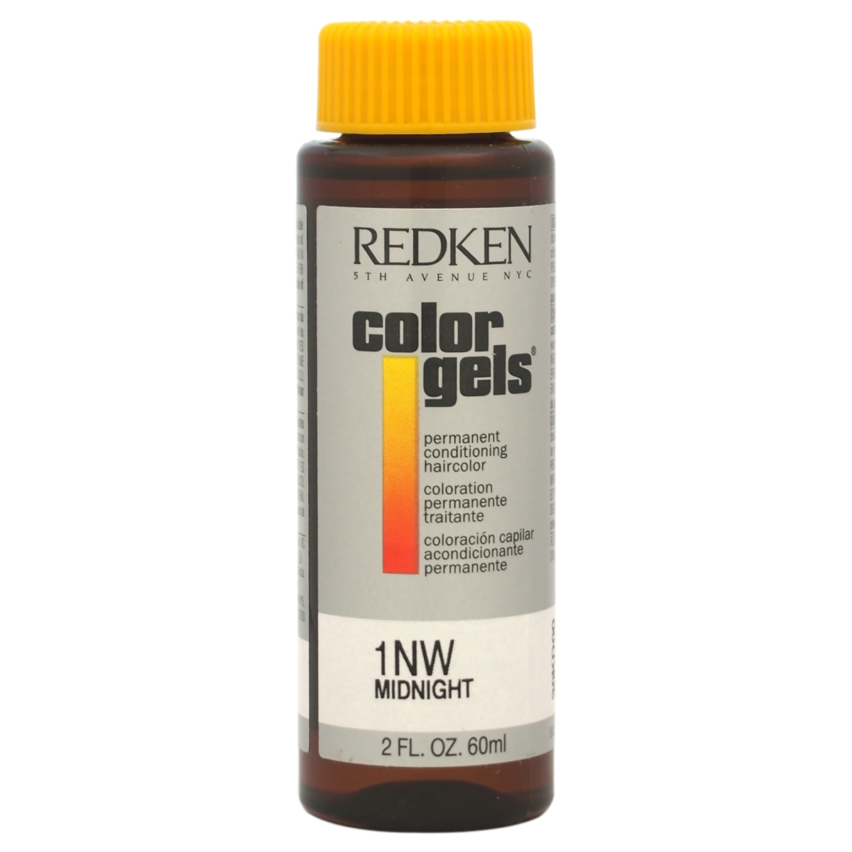 Redken U-HC-8162 2 oz Color Gels Permanent Conditioning No. 1 Midnight Hair Color for Unisex Natural White