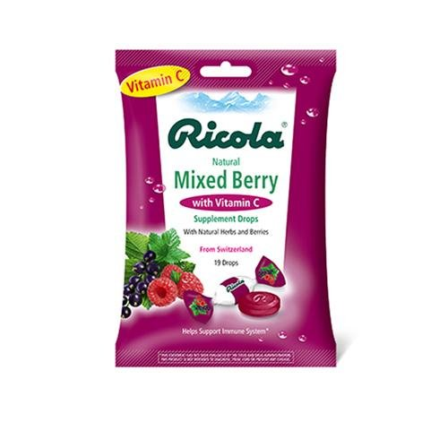 Ricola 0806026 Cough Drops with Vitamin C Mixed Berry - Case of 12 - 19 Pack