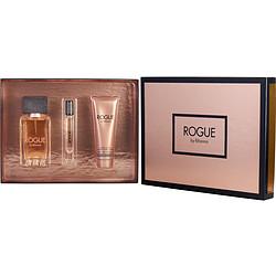 Rihanna 289781 Rogue 4.2 oz Eau De Parfum Spray 3 oz Body Lotion & .2 oz Eau De Parfum Rollerball