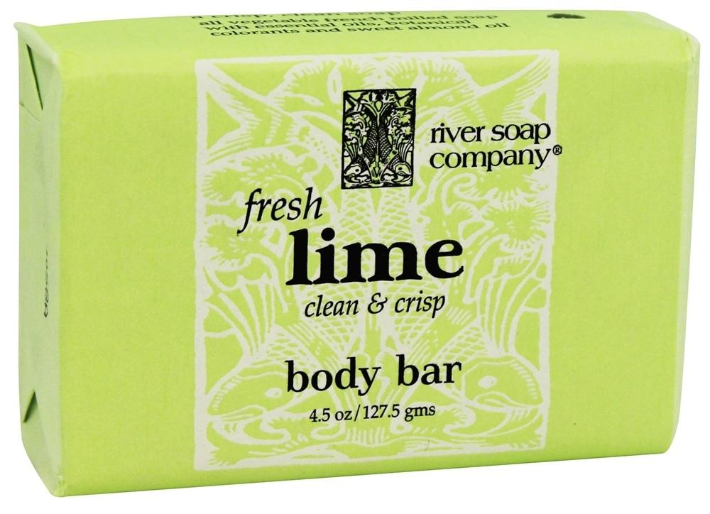 River Soap 1788546 4.5 oz Bar Soap Fresh Lime