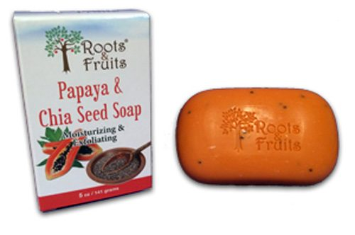 Roots & Fruits 1592708 5 oz Papaya & Chia Seed Bar Soap