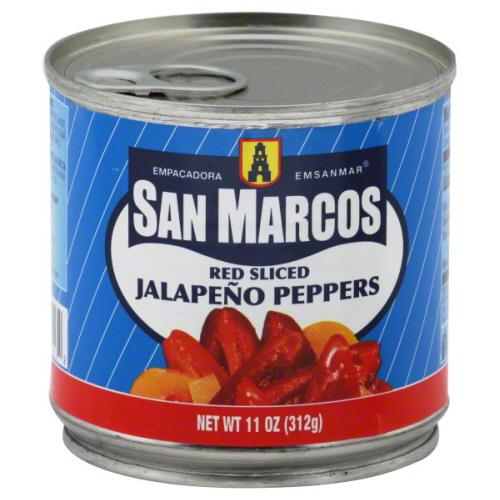 SAN MARCOS PEPPER JALPNO RED SLCD-11 OZ -Pack of 12