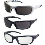 SAS Safety KTSAS984503 GTR Eyewear with Polybag Clear Lens & Silver Frame