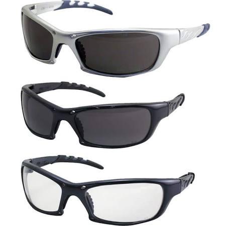 SAS Safety KTSAS984503 GTR Eyewear with Polybag Clear Lens & Silver Frame