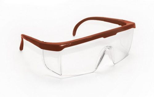SAS Safety SAS-5272 Red Frame Safety Glasses Eyewear Clear Lens