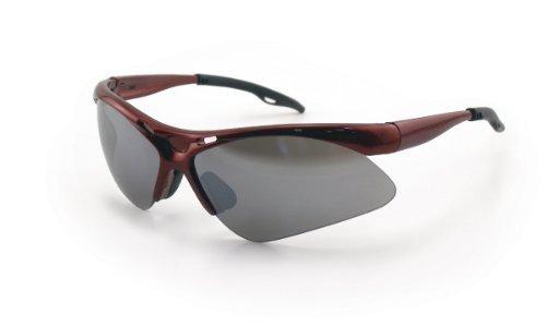 SAS Safety SAS-540-0013 Red Frame Diamondback Eyewear with Clamshell