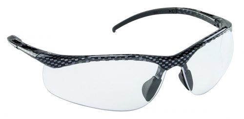 SAS Safety SAS-543-3010 DB Carbon Eyewear with Clear Lens Black