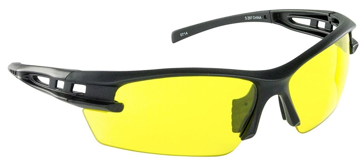 SAS Safety SAS-5511-03 Spectro Safety Glasses with Yellow Lens Black