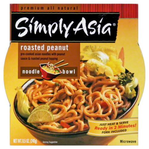 SIMPLY ASIA BOWL HT SRV RSTD PEANUT-8.5 OZ -Pack of 6