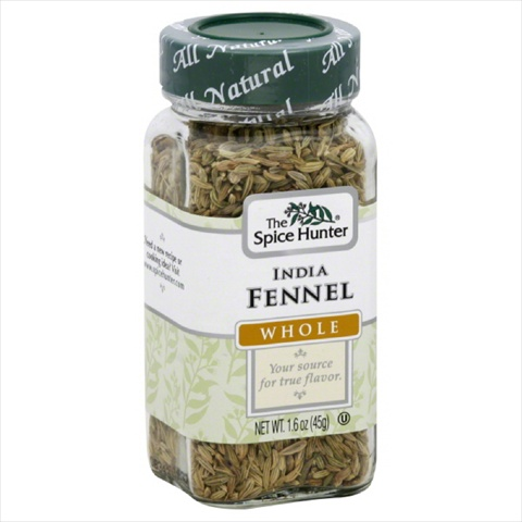 SPICE HUNTER FENNEL INDIAN WHL-1.6 OZ -Pack of 6