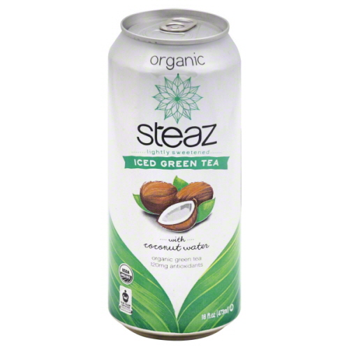 STEAZ BEV TEA ICED GRN & CCNUT-16 FO -Pack of 12