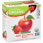 Santa Cruz Organic 3.2 Ounce Apple Strawberry Sauce 4 Count