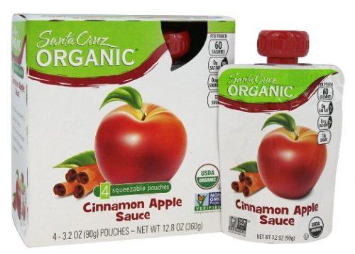 Santa Cruz Organic 3.2 Ounce Organic Sauce Pouches - Cinnamon Apple 4 Count