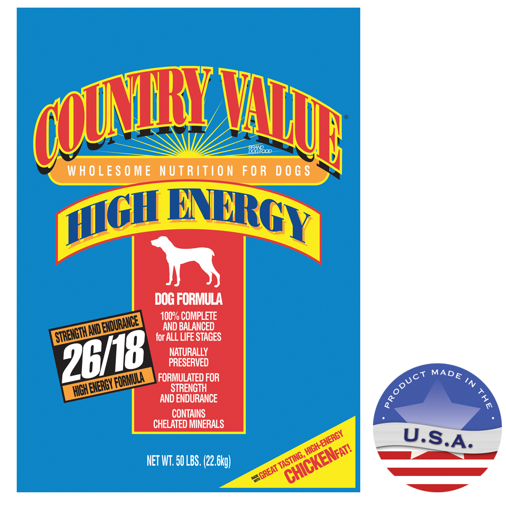 Schell & Kampeter 030DIA-21050 50 lbs Country Value Hi-Energy Adult Dog Food