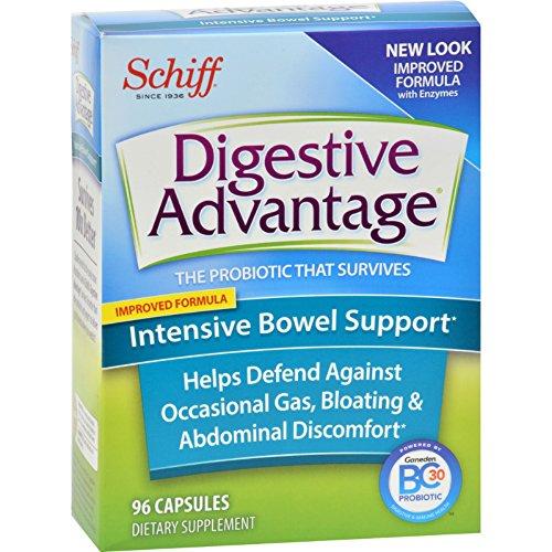 Schiff Vitamins 1512953 Vitamins Digestive Advantage - Intensive Bowel Support Capsules 96 Count