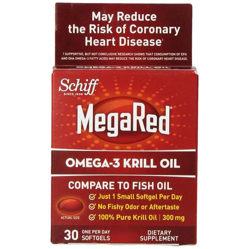 Schiff Vitamins 300 Mg. Omega 3 Krill Oil Megared - 30 Softgels