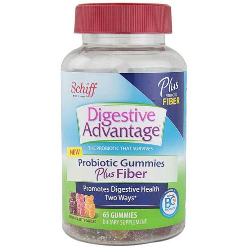 Schiff Vitamins Digestive Advantage - Probiotic Gummies plus Fiber - 65 ct - 1512987