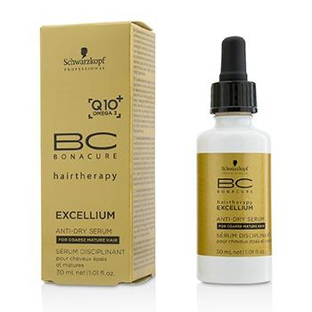 Schwarzkopf 221378 30 ml BC Excellium Q10 Plus Omega 3 Anti-Dry Serum for Coarse Mature Hair
