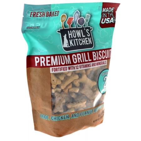 Scott Pet DT198 42 oz Howls Kitchen Premium Grill Biscuits