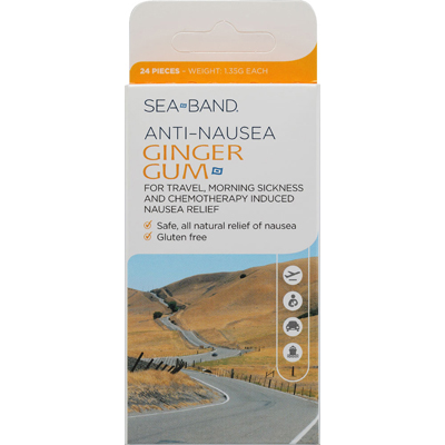 Sea-Band 0945865 Anti-Nausea Ginger Gum - 24 Pieces
