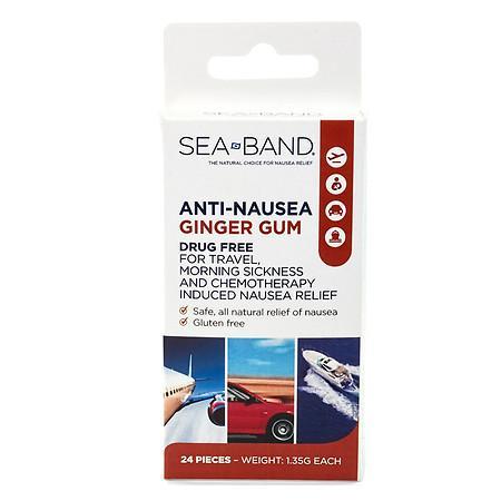 Sea-Band Ginger Gum, Anti-Nausea - 24 ea