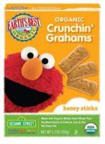 Sesame Street Organic Honey Crunchen Grahams -Pack of 6